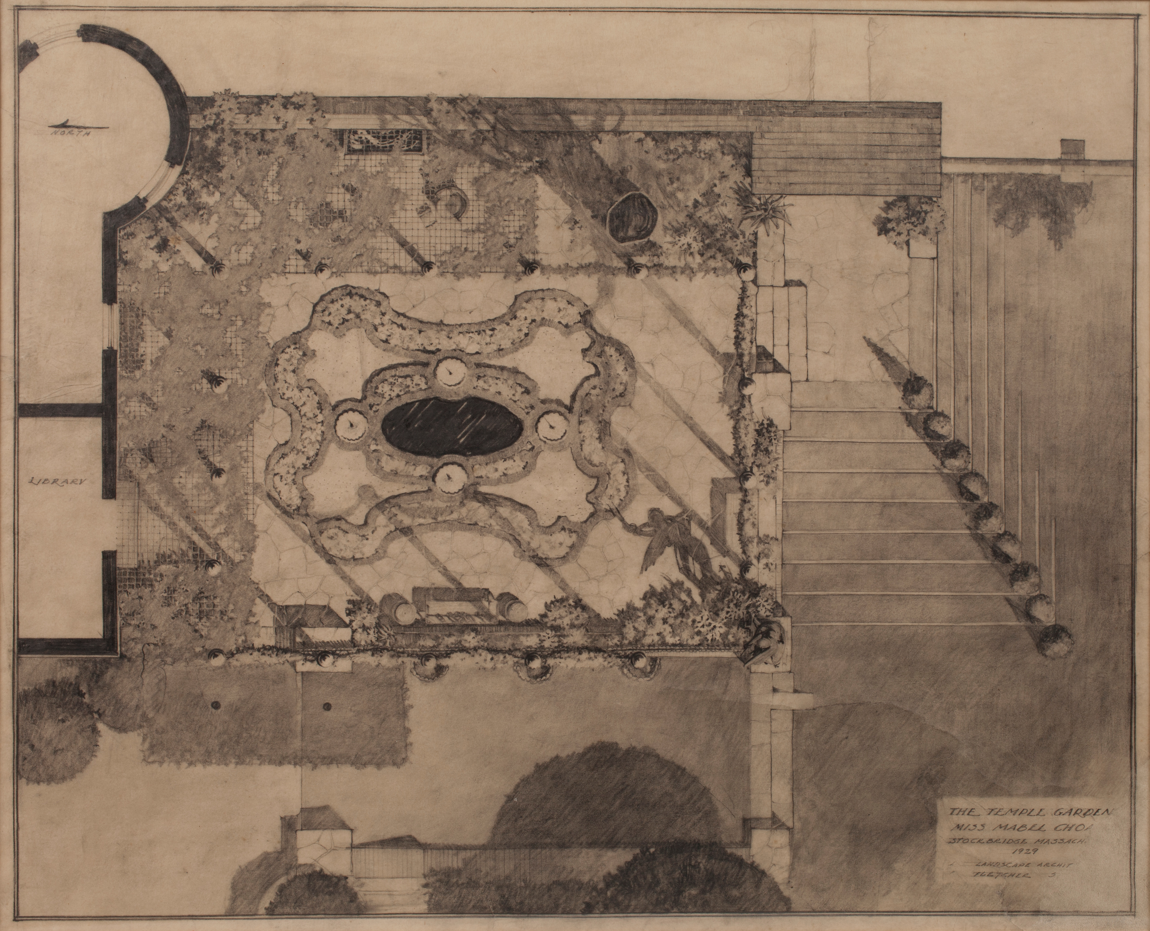 The Temple Garden (Afternoon Garden) Pencil Drawing | The Trustees ...